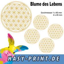 BDL001 5er Set Sticker Aufkleber,  Blume des Lebens, Flower of Life