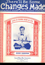 """BENNY GOODMAN Sheet Music """"There'll Be Some Changes Made"""""""