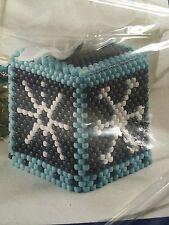 Winter Snowflake Pony Beads  Craft Kiit Tissue Box Cover