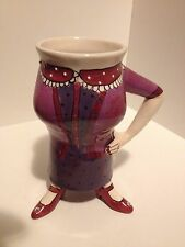 2004 SIGNED LYNDA CORNEILLE CHARACTER COLLECTIBLES 3 LEGGED WOMAN COFFEE MUG CUP