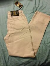 """NWT Women's """"Istante"""" Jeans, Beige, Size 8 By VERSACE"""