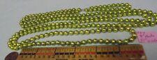 "Christmas Garland Mercury Glass Chartreuse 85"" Circle 1/4"" Beads Nd4 Vintage"