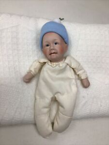 PAT SECRIST DOLL SMALL BABY WITH BLUE CAP PREEMIE!