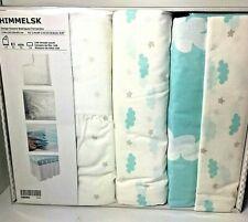 New ListingBaby Crib Bedding Set Ikea Himmelsk Blue Duvet Cover Fitted Sheet Pillow Case +