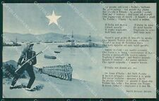 Militari Bersaglieri cartolina QT5524