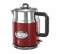 RUSSELL HOBBS Retro 21670 Jug Kettle - Red 3000W, 1.7 L, Stainless Steel