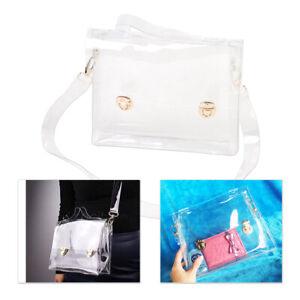 Women Fashion PVC Clear Bag Shoulder Handbag Waterproof Crossbody Transparent Em