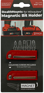 2x RED MAGNETIC BIT HOLDER for MILWAUKEE M18