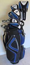 Mens Complete Golf Set Driver, Woods, Hybrids, Irons Putter Clubs Bag R Graphite
