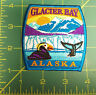 Embroidered Alaska Patch - Glacier Bay Alaska Patch with puffin and whale tail
