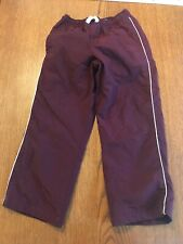 Childrens Place Youth Boys Windbreaker Pants Size 5 Maroon EUC