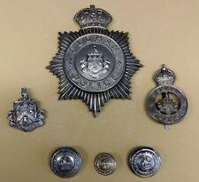 Obsolete UK Oldham Police Hat, Cap & Collar Badges + 3 Buttons