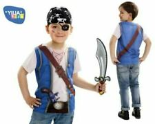 PIRATE BOY Kids Fancy Dress T-Shirt Costume Dressing Up Outfit  Age 4-6 years