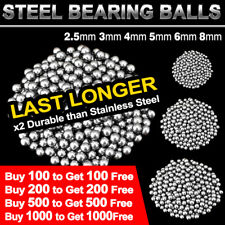 Steel Loose Bearing Ball 2.5-8mm Replacement Parts Bike Bicycle Cycling