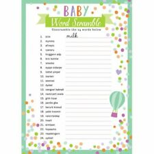 """read description! The best three BABY SHOWER GAMES EVER Includes /""""Labour or P/"""""""