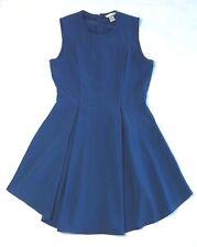 H&M Women's Skater Style Dress Size 14 Cobalt Blue Fit & Flare Flattering Shape