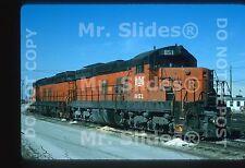 Original Slide B&LE Bessemer & Lake Erie SD18 851 & SD18 852 Bellevue OH 1995