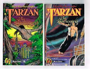TARZAN THE BECKONING #1-7 NM+ COMPLETE MALIBU COMICS E R BURROUGHS 1992 T YEATES
