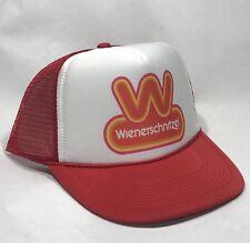 Wienerschnitzel Hot Dog Trucker Hat Vintage 80's Snapback Employee Cap Red