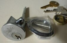 YALE Replacement Rim Cylinder Door Lock Night Latch  3 Keys Silver (Used)