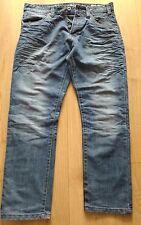 CROSSHATCH Series 55 distressed Denim Jeans Brand New Size 34 Waist Length 30