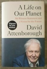 Signed Book a Life on Our Planet by David Attenborough Hardback 2020 1st Edition