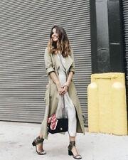 BNWT $129 Zara Women FLOWING TRENCH COAT 5070/209 Blogger/Celebrity Favorite