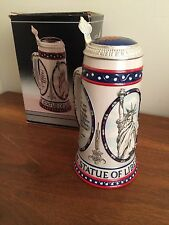 Stroh Brewery Statue of Liberty 100th Anniversary Lidded Beer Stein - 1986