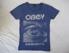 OBEY Records T-Shirt S Small Star One Eye Oeuil Oneyed