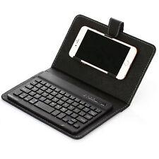 Mini protector de caja de cuero portátil Teclado inalámbrico Bluetooth