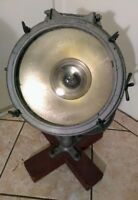 CROUSE-HINDS Vintage Search Light Spotlight Industrial Lamp Nautical Boat Ship