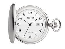 Taschenuhr Savonette Regent P-09 mit Datum Metallgehäuse Quartz