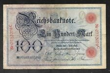 Germany - Old 100 Mark Note - 1898 - P20 - F+/VF