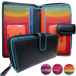 Ladies Purse Soft Leather RFID Luxury Quality Visconti Rio New in Gift Box