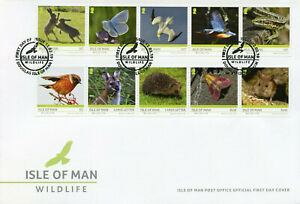 Isle of Man IOM 2019 FDC Wildlife Europa 10v Cover Butterflies Birds Stamps