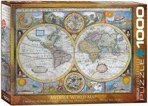 Eurographics Puzzle 1000 Pieces Jigsaw puzzle Antique World Map  EG60002006