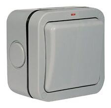 Outside Light Switch 1 Gang 2 Way Outdoor Weatherproof Waterproof Switch Socket