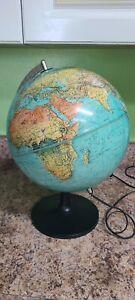 1972 Scan-Globe A/S EDITION 1985 GB Light- Up World Globe Denmark
