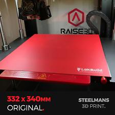 LokBuild : 3D Print Build Surface - 332 x 340 (Raise3D Pro2, Pro2 Plus, N2, N2+)