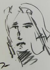 JOSE TRUJILLO Artist ORIGINAL CHARCOAL DRAWING PORTRAIT COLLECTIBLE DECORATIVE