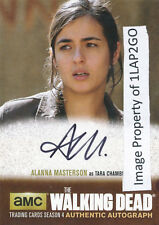 Walking Dead Season 4 Part 2 AM1 Alanna Masterson Autograph Auto Card Free Ship