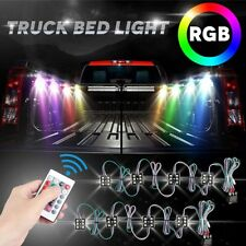 Universal 8 x LED RGB Rock Lights Under Body LED Pick-up Truck Bed w/Remote