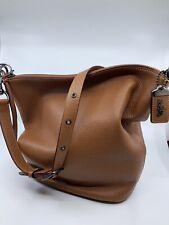 NWT COACH Duffle 29257 Saddle 1941 Pebbled Leather Bucket Rogue Shoulder Hobo