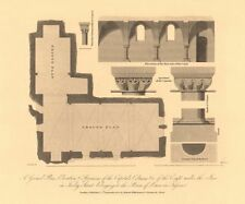 TOOLEY STREET, SOUTHWARK. Plan Capitals Elevation. Lewes Priors' Inn 1834 map