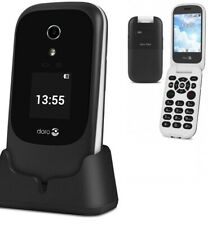Doro 7060 Easy to Use 2.8 Inch 4GB 3MP 4G Mobile Phone with charging cradle wifi