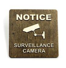 Video Surveillance, 24H Surveillance, CCTV, Door Sign, Wall Sign, Monitoring