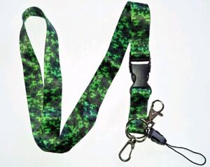 Pack of 1 Camouflage Lanyard neck strap for id badge holder with metal clip