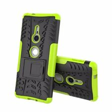 Etui Hybride 2 Pièces Extérieur Vert housse étui pour Sony Xperia XZ2 étui coque