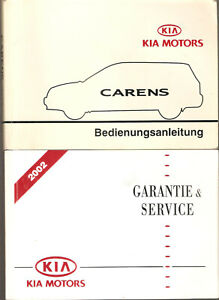 deutsche Betriebsanleitung carnival KIA MOTORS Handbuch Ausgabe 10/2002(2 Hefte)