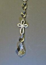 Celtic Cross Lead Crystal Suncatcher Window Hanging Car Charm Handmade Ornament